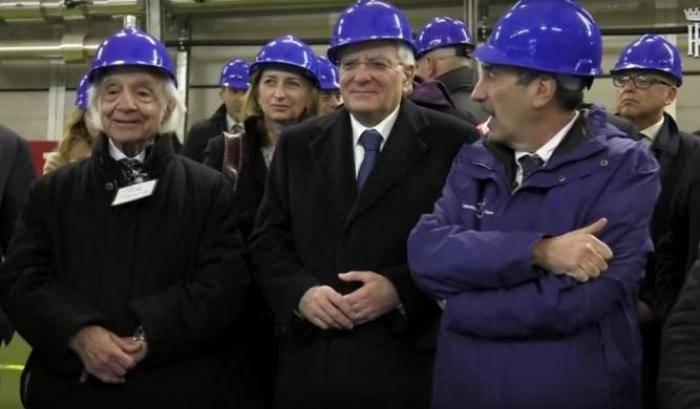 Mattarella underground: il presidente ai Laboratori del Gran Sasso