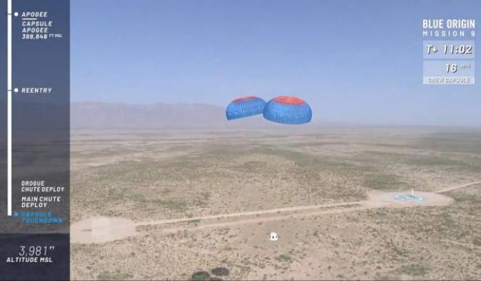 Blue Origin, successo per il secondo volo del 2018
