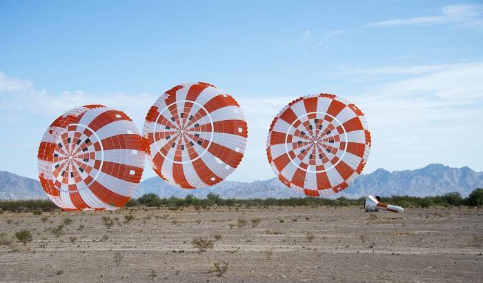 Orion, superata la settima prova paracadute