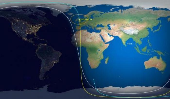 Iridium 94, satellite disintegrato senza danni