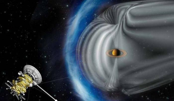 Aurore a mezzogiorno su Saturno