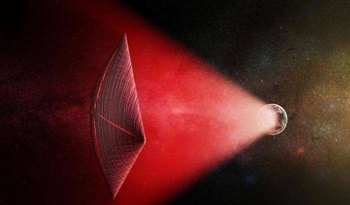 Vele laser per astronavi cercasi