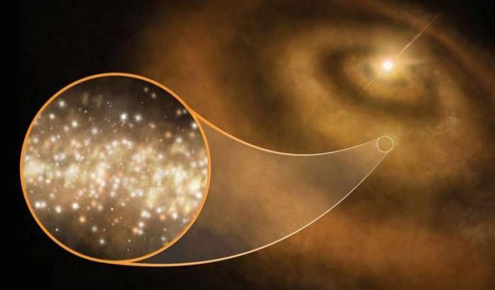 Nanodiamanti nella nursery stellare
