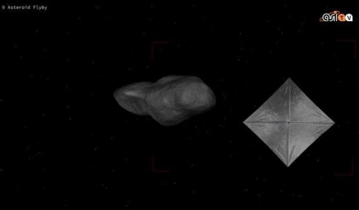 A vele spiegate verso l'asteroide