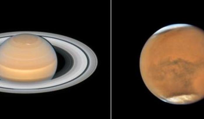 Marte e Saturno in posa per Hubble