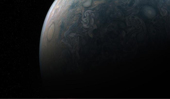 Vortici e correnti a getto, l'ultimo scatto di Juno