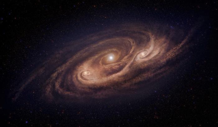 Traffico intenso nella galassia 'mostro'