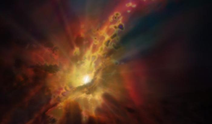 Crescita galattica frenata dal vento