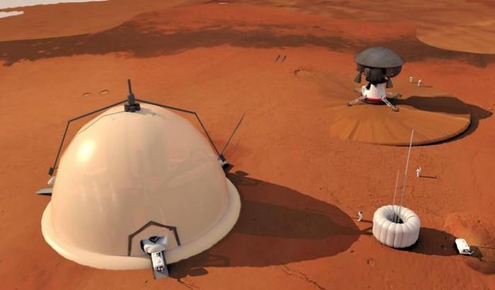 Insediamenti umani ai poli di Marte