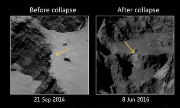 Rosetta, comete attive grazie al deperimento di massa