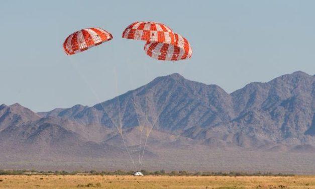 Orion, ultima prova paracadute completata