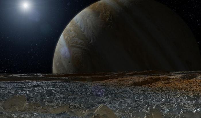 Lame di ghiaccio sulla superficie di Europa. Missioni a rischio