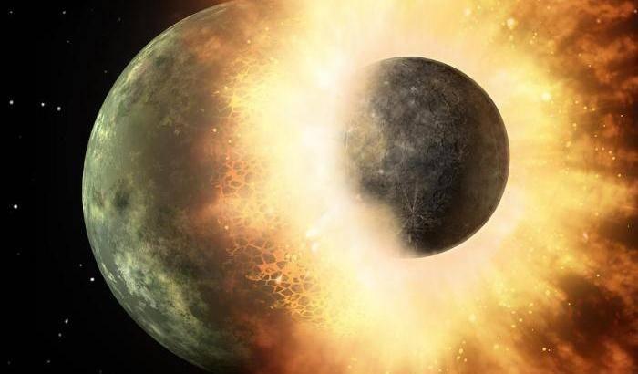 Lo schianto da cui nacque la Luna