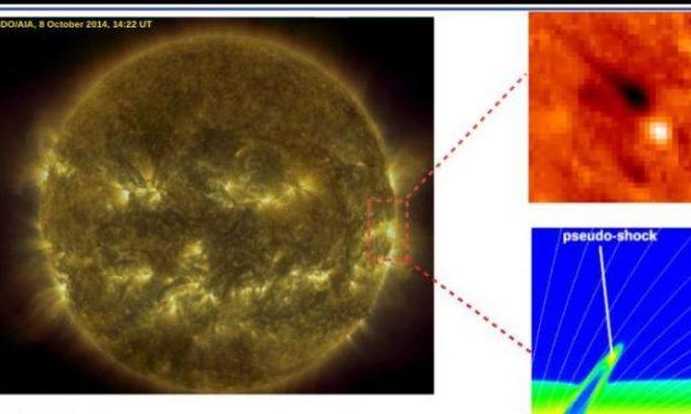 Proiettili di plasma per scaldare la corona solare