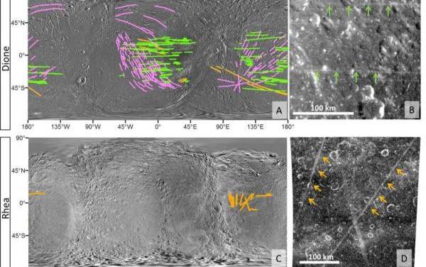 'Zebre' brillanti su Dione