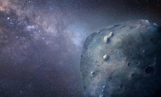 Un asteroide color zaffiro