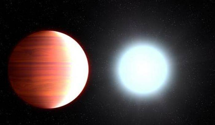 'Nevicate' al titanio su Kepler-13Ab