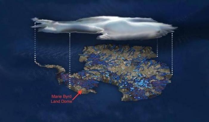 Antartide: sotto il ghiaccio, magma
