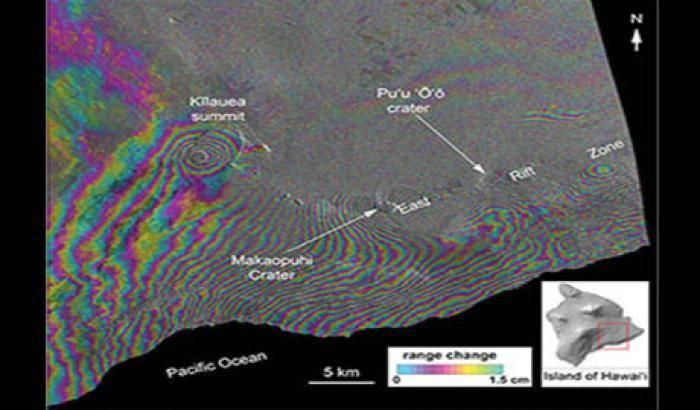 COSMO-SkyMed: scatti del vulcano