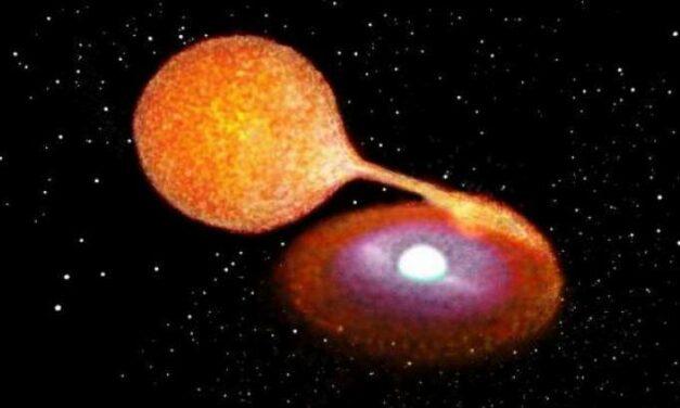 Esplosione di supernova, stella morta a metà