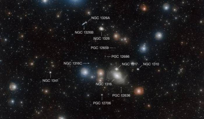 Foto di gruppo per galassie