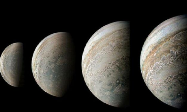 Giove, da nord a sud in sequenza