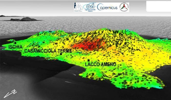 Il terremoto di Ischia secondo i satelliti: terra più bassa di 4 centimetri