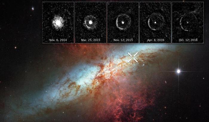 L'eco 'luminosa' di una supernova