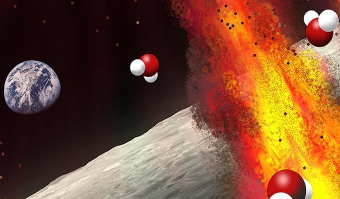 La Luna nasconde acqua nelle sue rocce vulcaniche