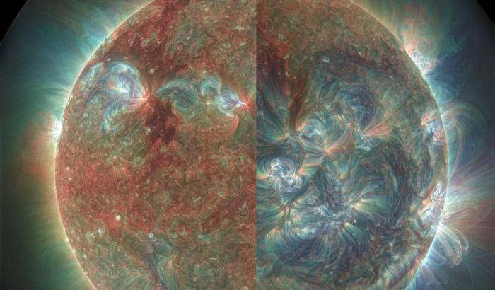 Luce ultravioletta sul Sole