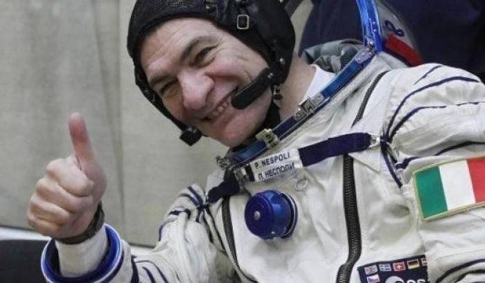 Primo collegamento di Paolo Nespoli dallo spazio