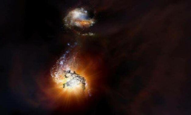 Scontro di titani nell'antico Universo