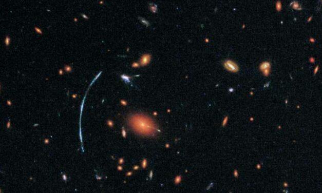 Una galassia distante per Hubble