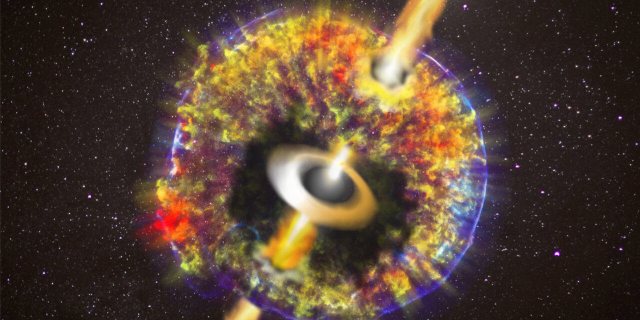 Scontro di stelle di neutroni: la foto del getto relativistico