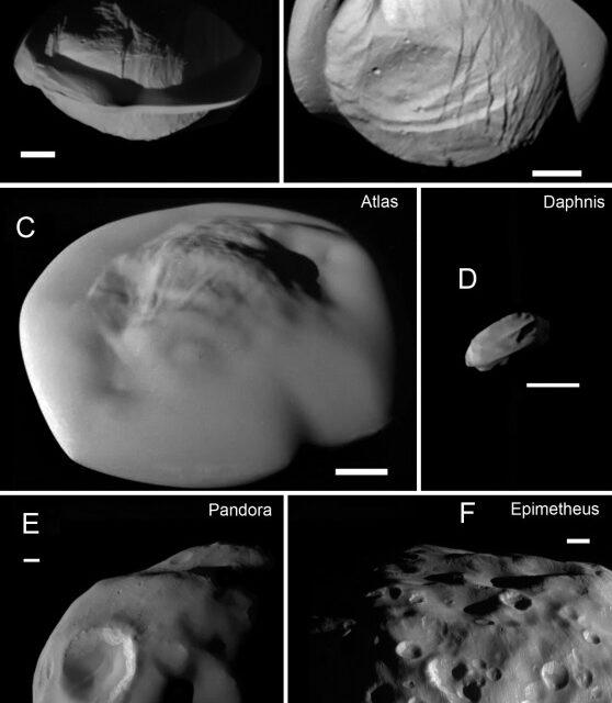 Le lune di Saturno, piccole e insolite