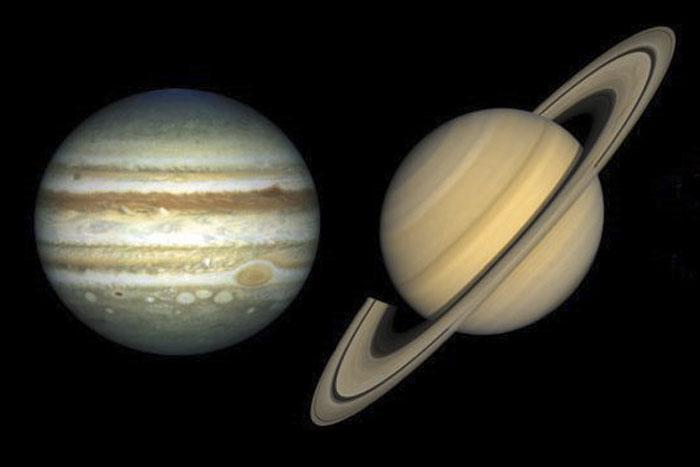 Giove e Saturno inediti