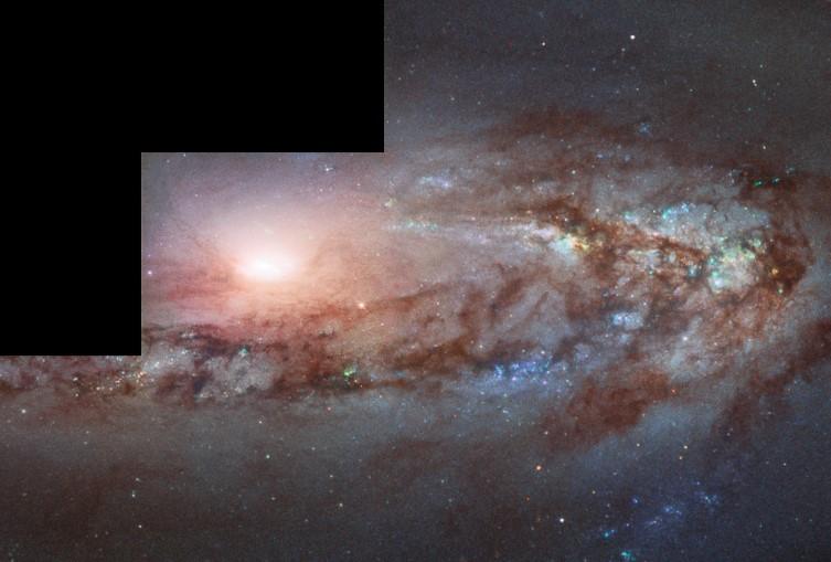 Una galassia in avvicinamento per Hubble