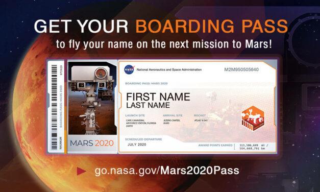 Carta d'imbarco per Marte