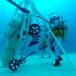 Test subacqueo per la barella lunare