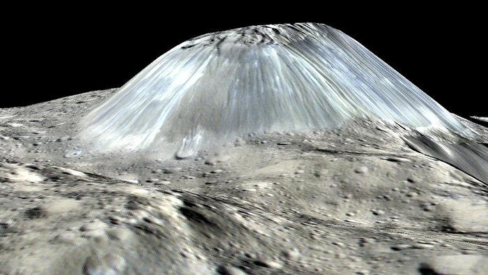 Cerere, alle radici dell'Ahuna Mons con Dawn