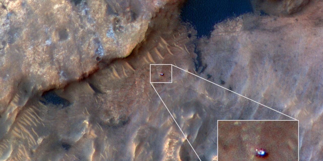 Curiosity, cartoline dall'orbita marziana