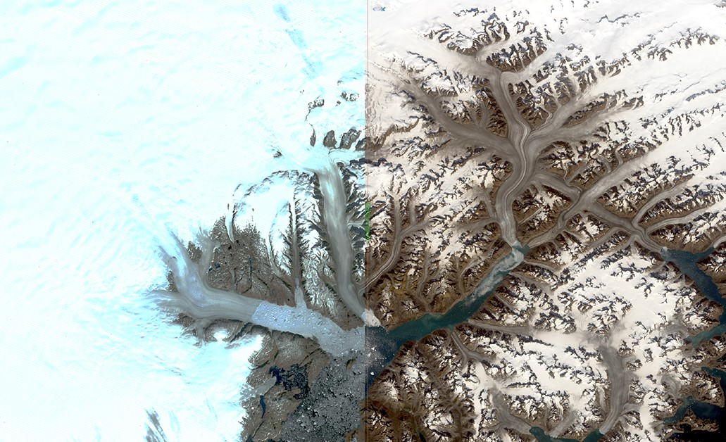 Groenlandia, ghiacciai in agonia nelle immagini Landsat
