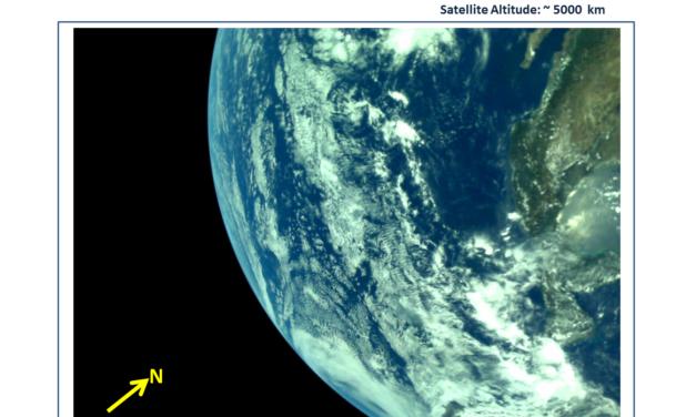 La Terra vista da Chandrayaan-2