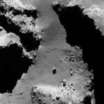 Rosetta, caduta massi su 67P