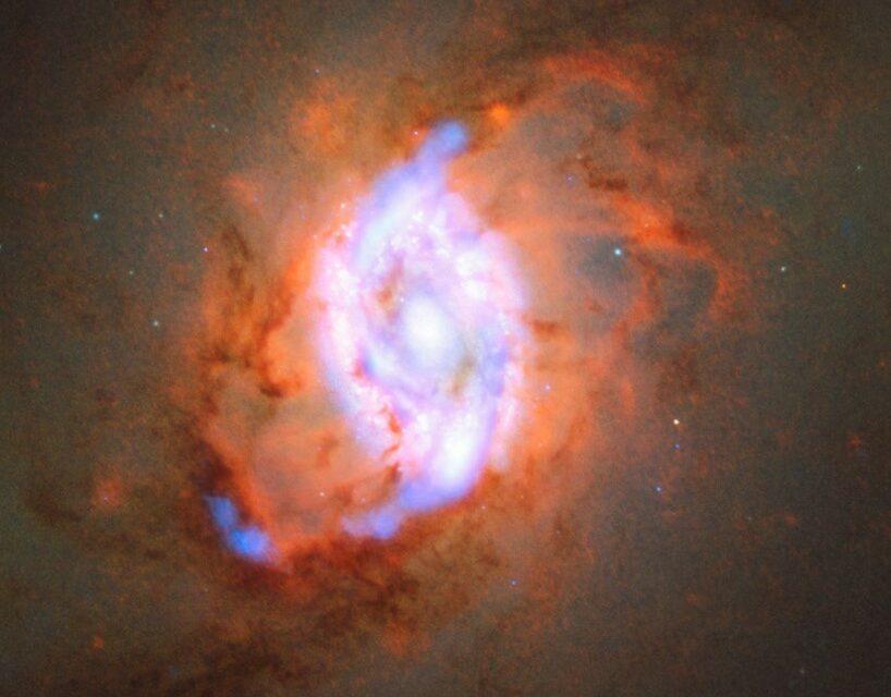 Una galassia con il 'feedback'