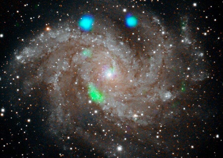 Un lampo improvviso per la galassia 'pirotecnica'