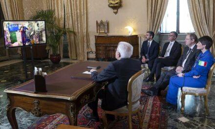Il Capo dello Stato in collegamento con Parmitano