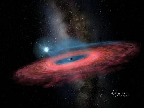 Un enorme mostro nella Via Lattea