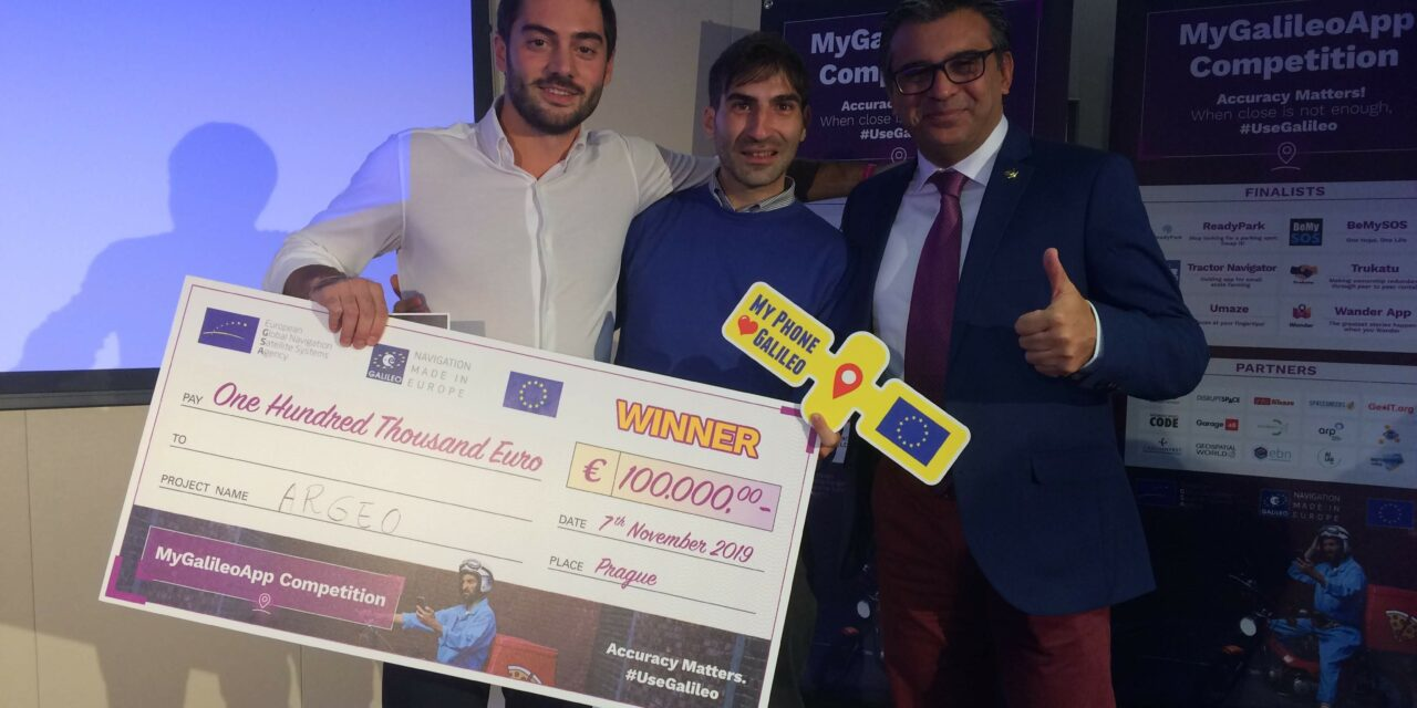 Argeo start-up italiana vince concorso europeo MyGalileoApp