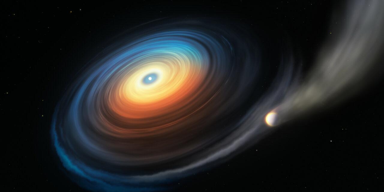 La prima volta di un pianeta e una nana bianca
